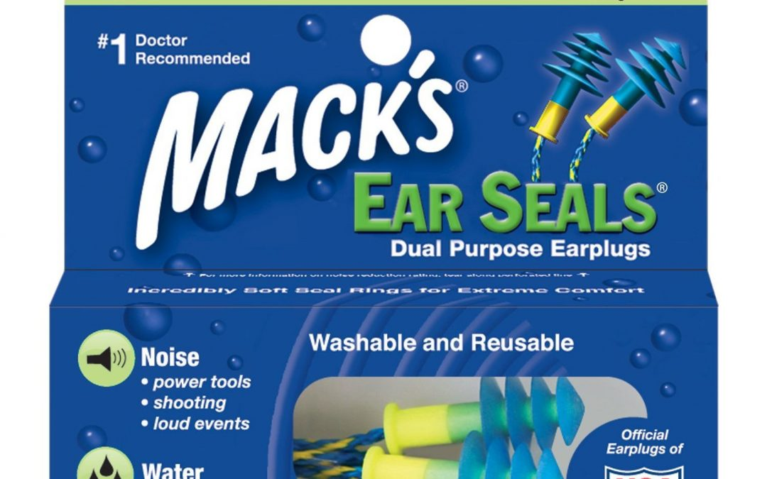 Macks Ear Seals Dual Purpose Noise & Swimming Reusable Earplugs SNR27dB