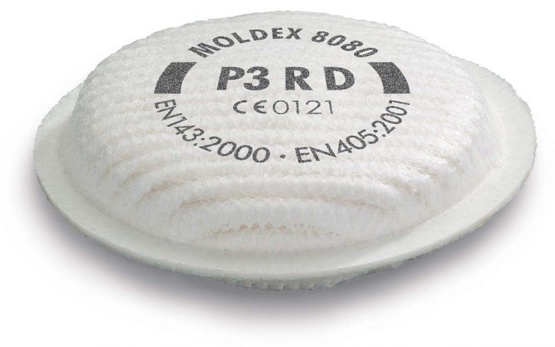 Single Moldex P3 Filter For 8000 Series MOL808001