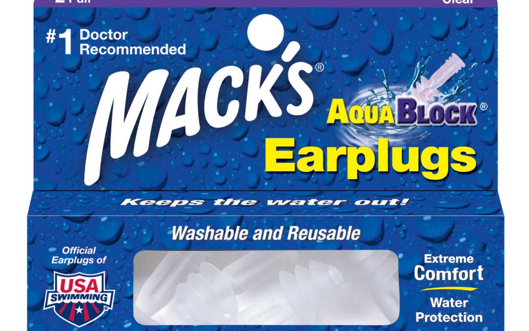 Macks AquaBlock Earplugs – Clear (2 Pairs)